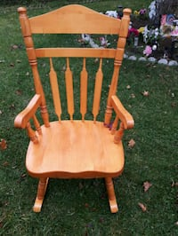 brown wooden windsor rocking chair London, N6E 2M5
