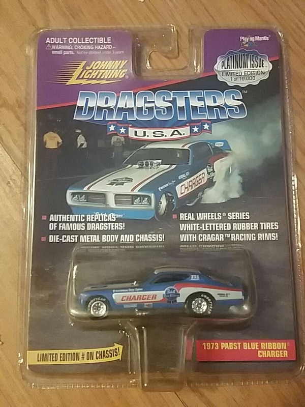 Used Johnny Lightning Dragsters U S A  1973 Pabst Blue Ribbon