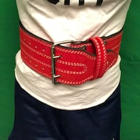 Red Leather Weightlifting Belt size S Centreville, 20120