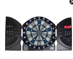 ISO electronic illuminated dart board