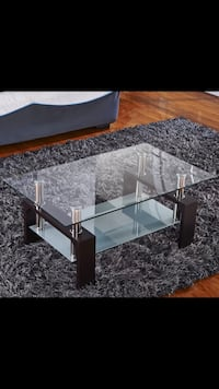 rectangular clear glass top table with black metal base Montgomery Village, 20886