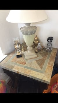 Stone coffee table and end table