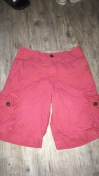 Red and brown Aeropostale cargo shorts