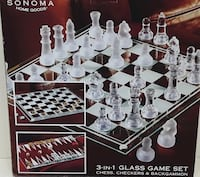Brand new glass game set with customize box