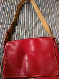 red and black leather crossbody bag Chicago, 60651