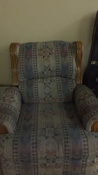 gray and brown floral sofa chair Cumberland, 21502