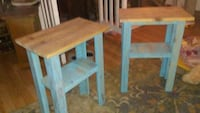 Pair of rustic farmhouse side tables Springfield, 97478