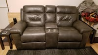 Reclining Couch with Powered Console Port St. Lucie