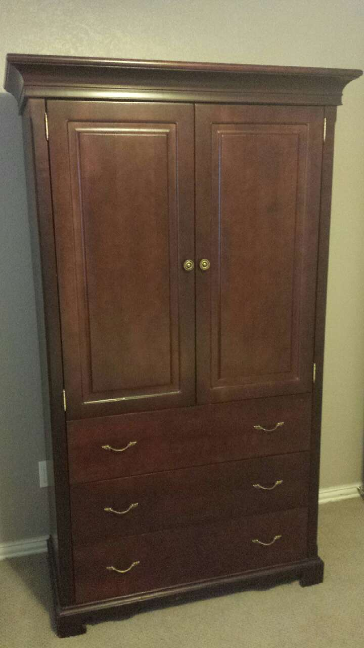 Used Bonavita Baby Armoire With Built In Changing Table In Dallas