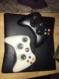 Xbox 360 with 2 controllers
