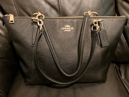 Coach Black Leather Ava Tote Bag