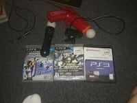 Playstation 3 PlayStation move with 3 games Santa Rosa