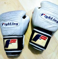 gray-and-black Fighting punching gloves