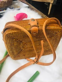 Brand new rattan bag handcrafted from Indonesia. Brampton, L6V 3X3