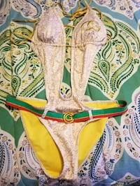 Coogi size M bathing suit with cover