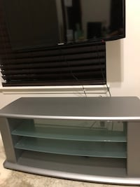 black and gray wooden TV stand Alexandria, 22315