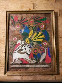 brown wooden framed painting of multicolored floral Tampa, 33610