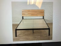 Zinus Meta & Wood Platform Bed with wood slat support Washington, 20005