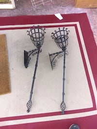 Wrought iron wall mount plant stands Birmingham, 35209