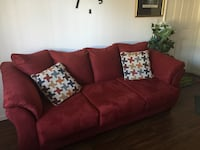 Darcy Faux Suede 3-seat sofa with 2 pillows Henderson, 89183