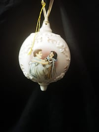 Rare Disney Snow White and Prince Charming Christmas Ornament