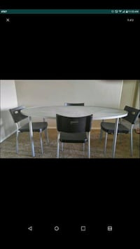 Dinning table (glass top)w/4chairs Las Vegas, 89113