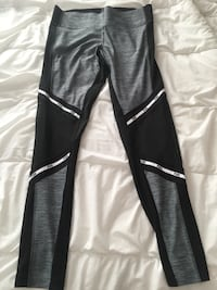 PINK brand black, grey, and white leggings with mesh detail Saskatoon, S7J 5A9