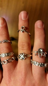 assorted silver-colored ring lot Virginia Beach, 23456