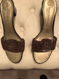 pair of brown leather flats Metairie, 70002