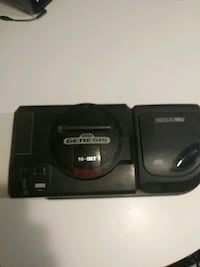 16-bit Sega Genesis with Sega CD attached controll 42 km