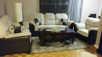 white and black couch Mississauga, L4X 2X9