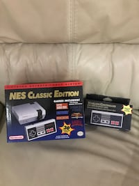 Nintendo classic mini, barely used with extra Bluetooth remote