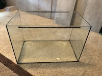 black metal framed glass pet tank
