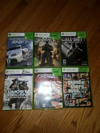 six Xbox 360 game cases Barrie, L4M 3C8