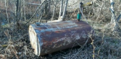 Old fuel tank