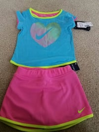 New with tags Nike girls clothes skort skirt set $30 Rockville
