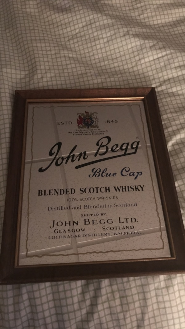 John Begg Scotch Whisky mirror