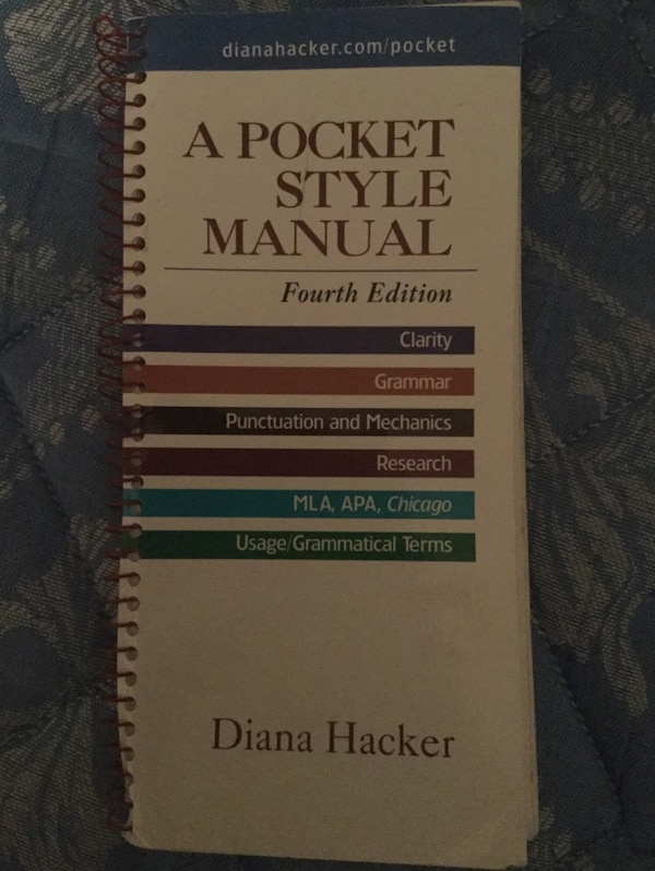 Used A Pocket Style Manual Diana Hacker For Sale In Mesa Letgo