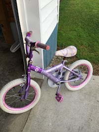 girl's blue and pink bike