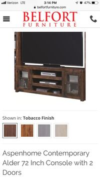 black and brown wooden TV stand Alexandria, 22206