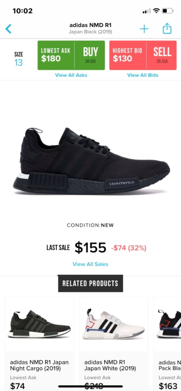 Used Adidas Nmd R1 Japan Black 2019 For Sale In Bakersfield Letgo