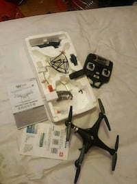 black and white quadcopter drone with remote Toronto, M1T 2R8