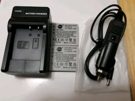 Travel charger with 2 battery packs +car charger