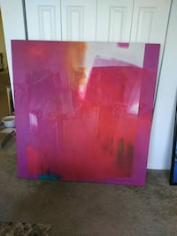 pink and white abstract painting Denver, 80210