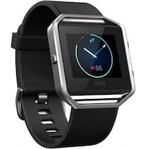 Fitbit Blaze Smart Fitness Watch, (Large) Black Band,  Stainless Steel. Silver Spring, 20902
