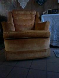 brown suede sofa chair with ottoman West Covina, 91790
