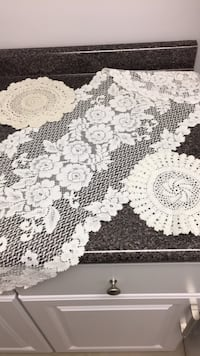 White Lace Table Runner and Two Lace Pieces Covington, 41011