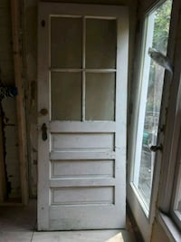 white wooden framed glass door 43 km