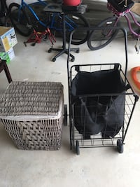 Laundry basket  and rolling cart  Bulverde, 78163