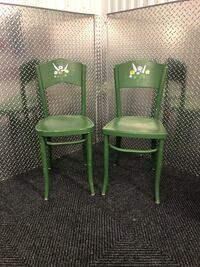 Two green wooden antique chairs Alexandria, 22306